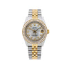 Rolex Datejust 68273 31MM White Diamond Dial With Two Tone Bracelet