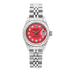 Rolex Oyster Perpetual Lady Date 69240 26MM Red Diamond Dial With Stainless Steel Bracelet