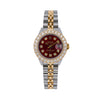Rolex DateJust Diamond Watch, 6917 26mm, Red Diamond Dial With Two Tone Jubilee Bracelet