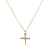 Unisex 14k Yellow Gold Cross with 0.35 Ct Diamonds