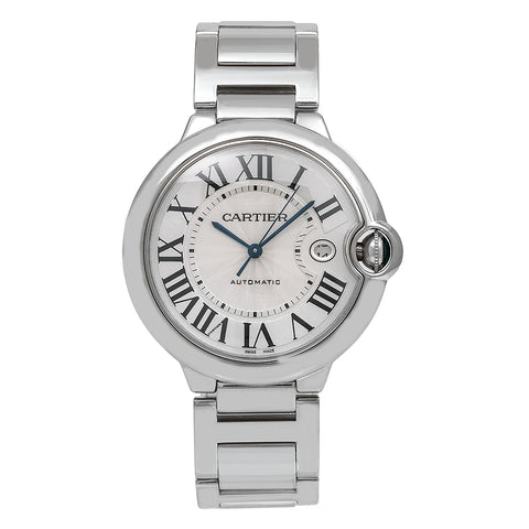 White Gold Cartier Ballon Bleu W69013Z2 42mm White Dial with Roman Numerals