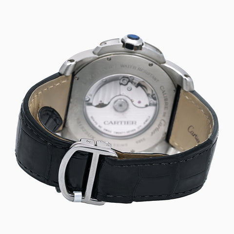 Cartier Calibre de Cartier W7100037 42MM Silver Dial With Leather Bracelet