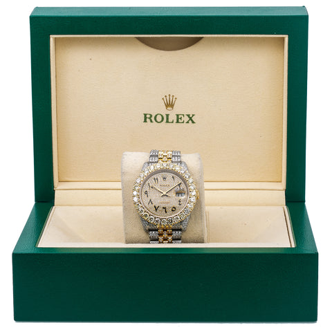 Rolex Datejust 116233 36MM Champagne Diamond Dial With Two Tone Bracelet