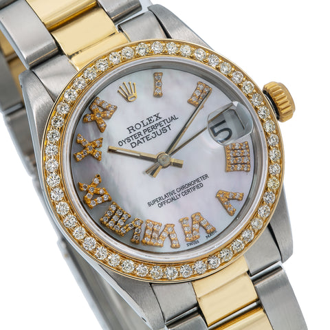 Rolex Lady-Datejust 68273 31MM Mother of Pearl Dial With Two Tone Oyster Bracelet