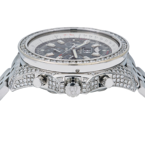 Breitling Bentley 6.75 A44362 48MM Black Dial With 11.75 CT Diamonds
