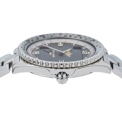 Breitling Chronospace A56012 42mm Black Dial With Stainless Steel Bracelet