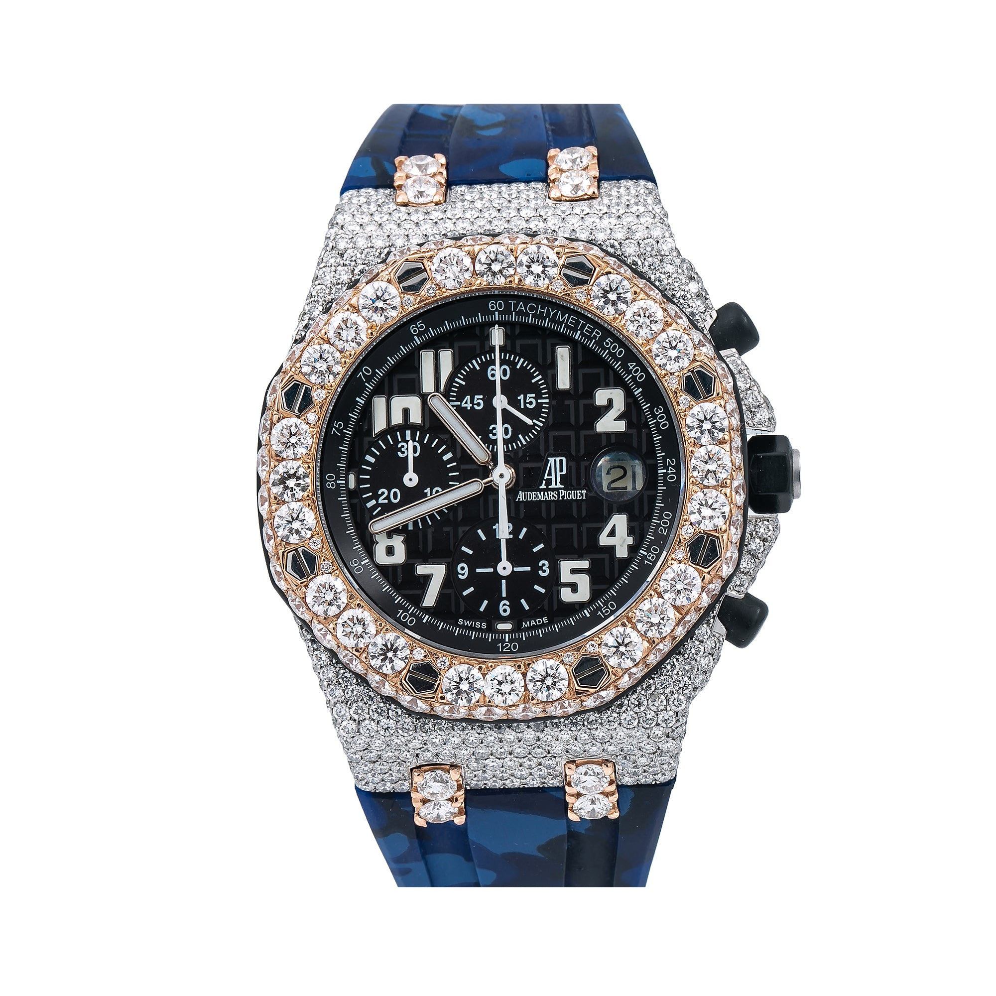 Audemars Piguet Royal Oak Offshore Chronograph 26170ST 42MM Black Dial With 23.50 CT Diamonds