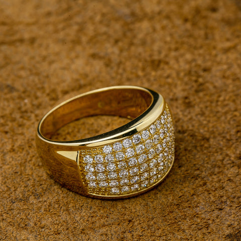 Unisex 14K Yellow/ Rose Gold Fancy Diamond Ring