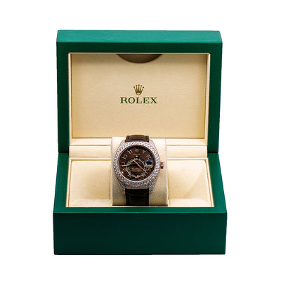 Rolex Sky-Dweller 326135 42MM Brown Dial With Leather Bracelet
