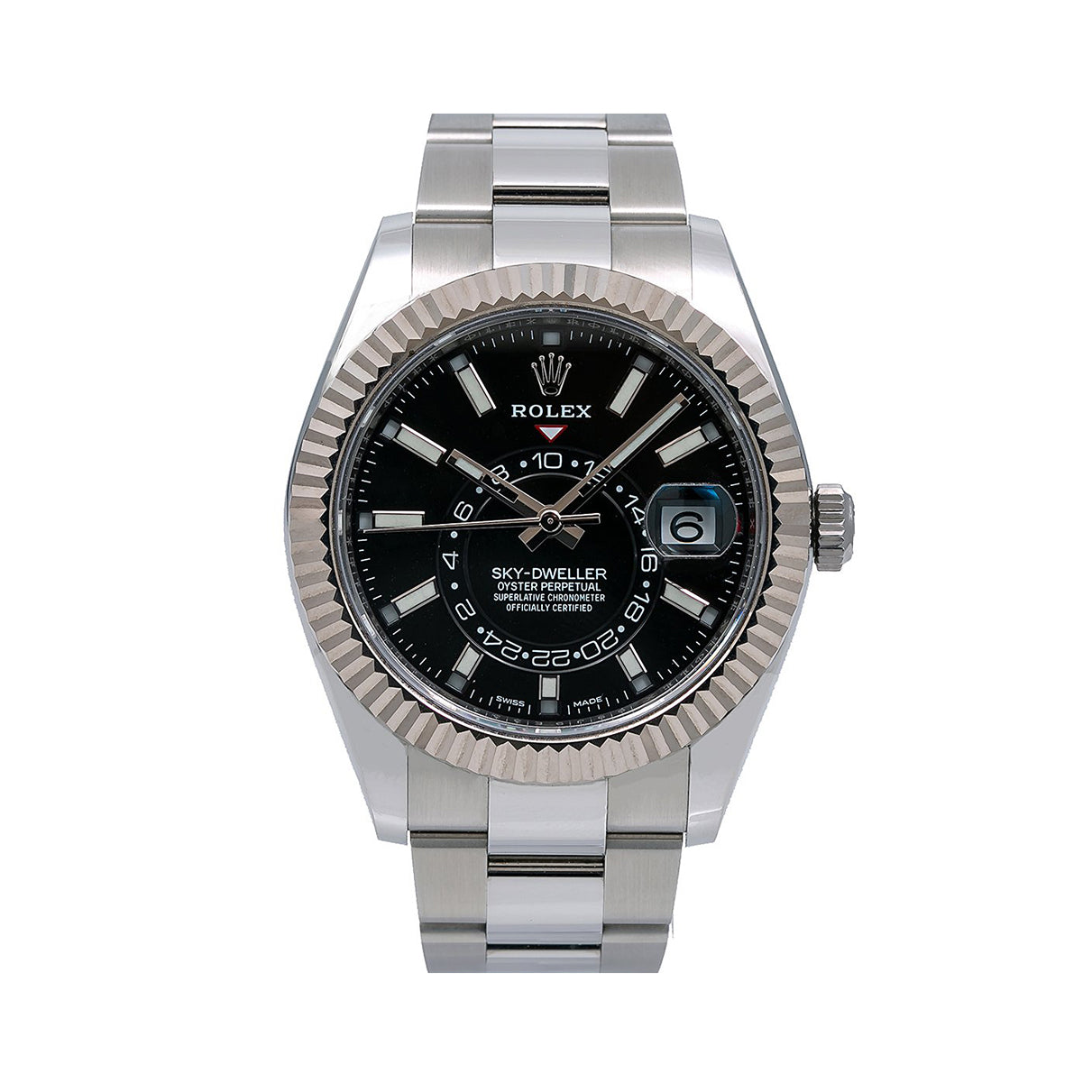 Rolex Sky-Dweller 326934 42MM Black Dial With Stainless Steel Oyster Bracelet