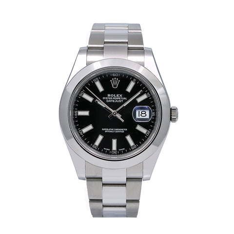 Rolex Datejust II 116300 41MM Black Dial With Stainless Steel Oyster Bracelet