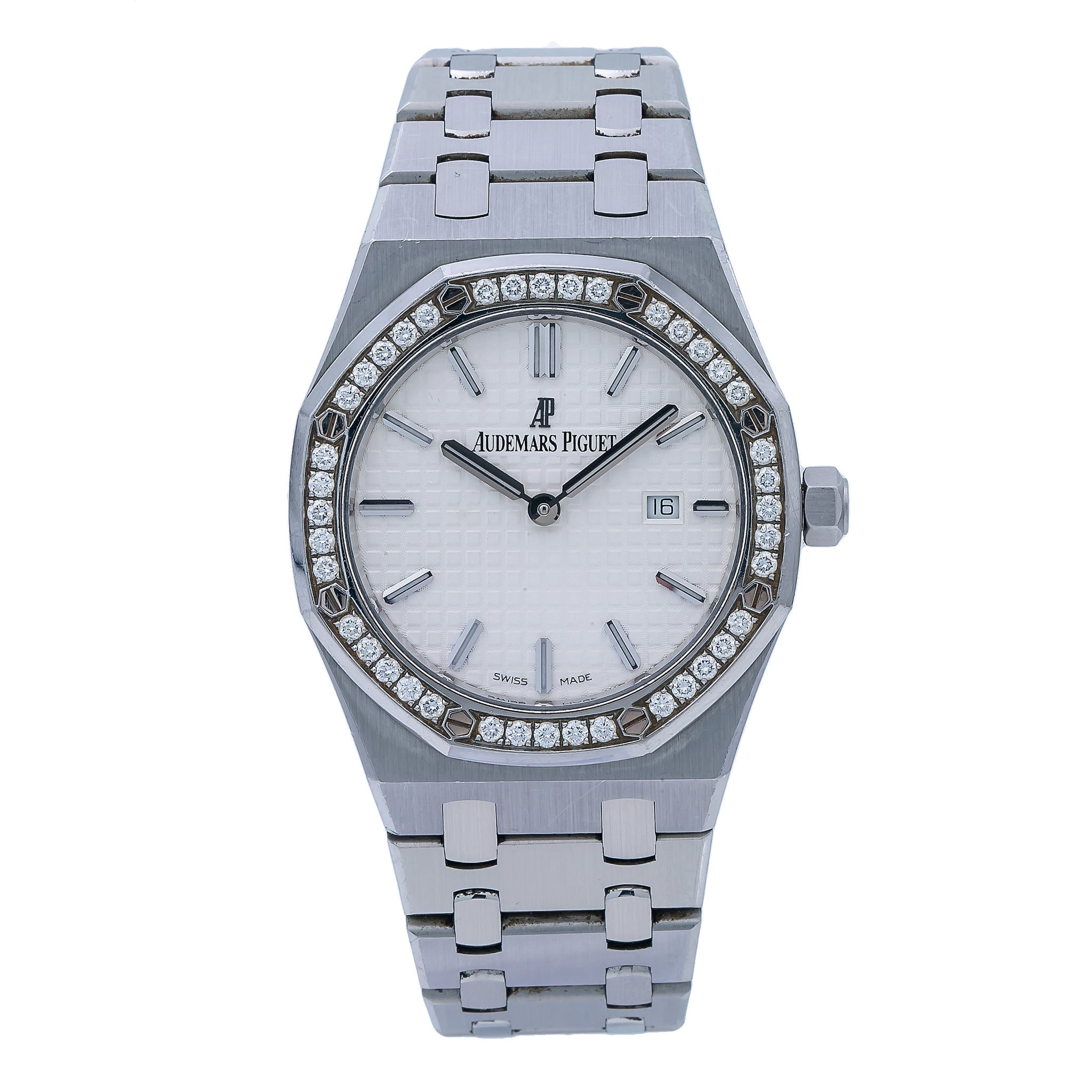 Audemars Piguet Royal Oak Lady 33MM White Dial And Factory Diamond Bezel