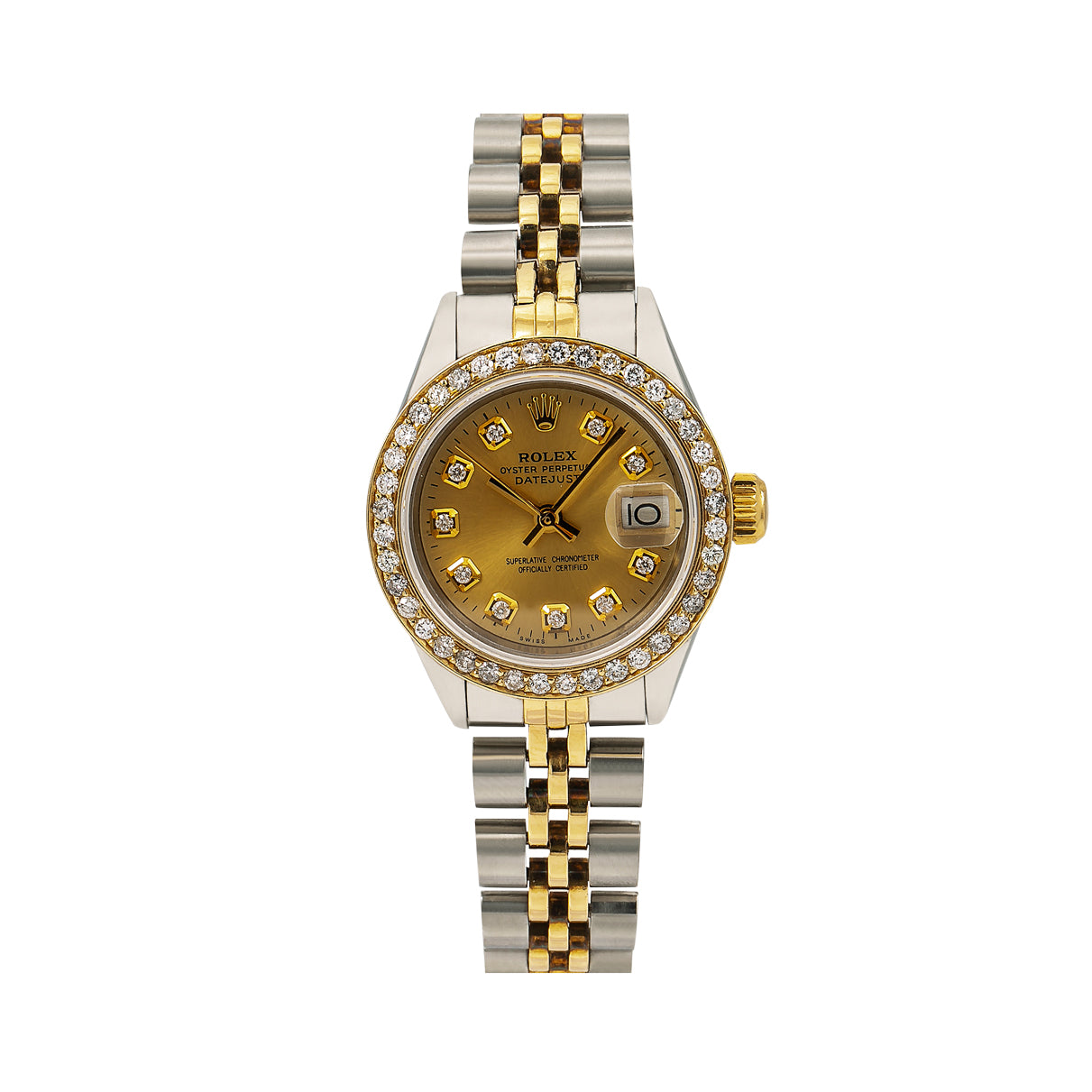 Rolex Lady-Datejust 6917 26MM Champagne Diamond Dial With Two Tone Jubilee Bracelet