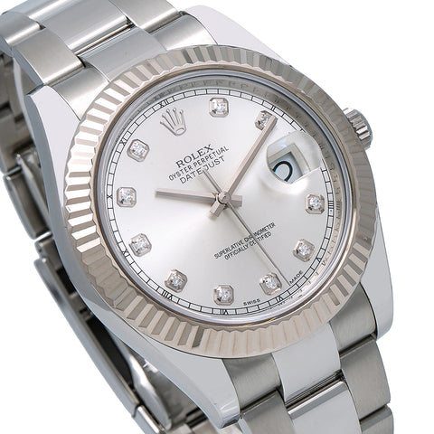 Rolex Datejust II 116334 41MM Silver Dial With Stainless Steel Oyster Bracelet