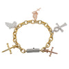 14K Yellow Gold Bracelet Set With 5 Lovely Charms With 19.85 Ct Diamonds