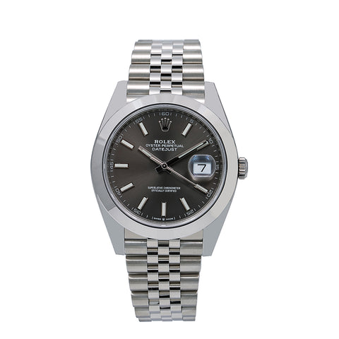 Rolex Datejust 126300 41MM Dark Rhodium Dial With Stainless Steel Bracelet