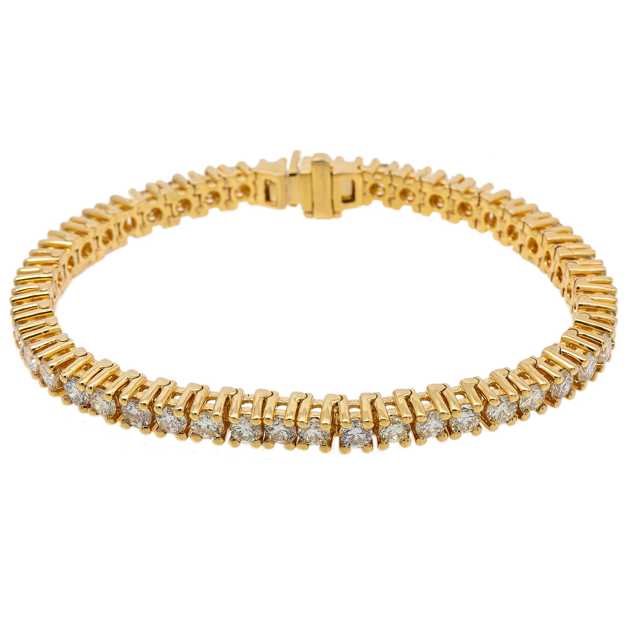 14K YELLOW GOLD WOMEN'S BRACELET WITH 13.78 CT DIAMONDS