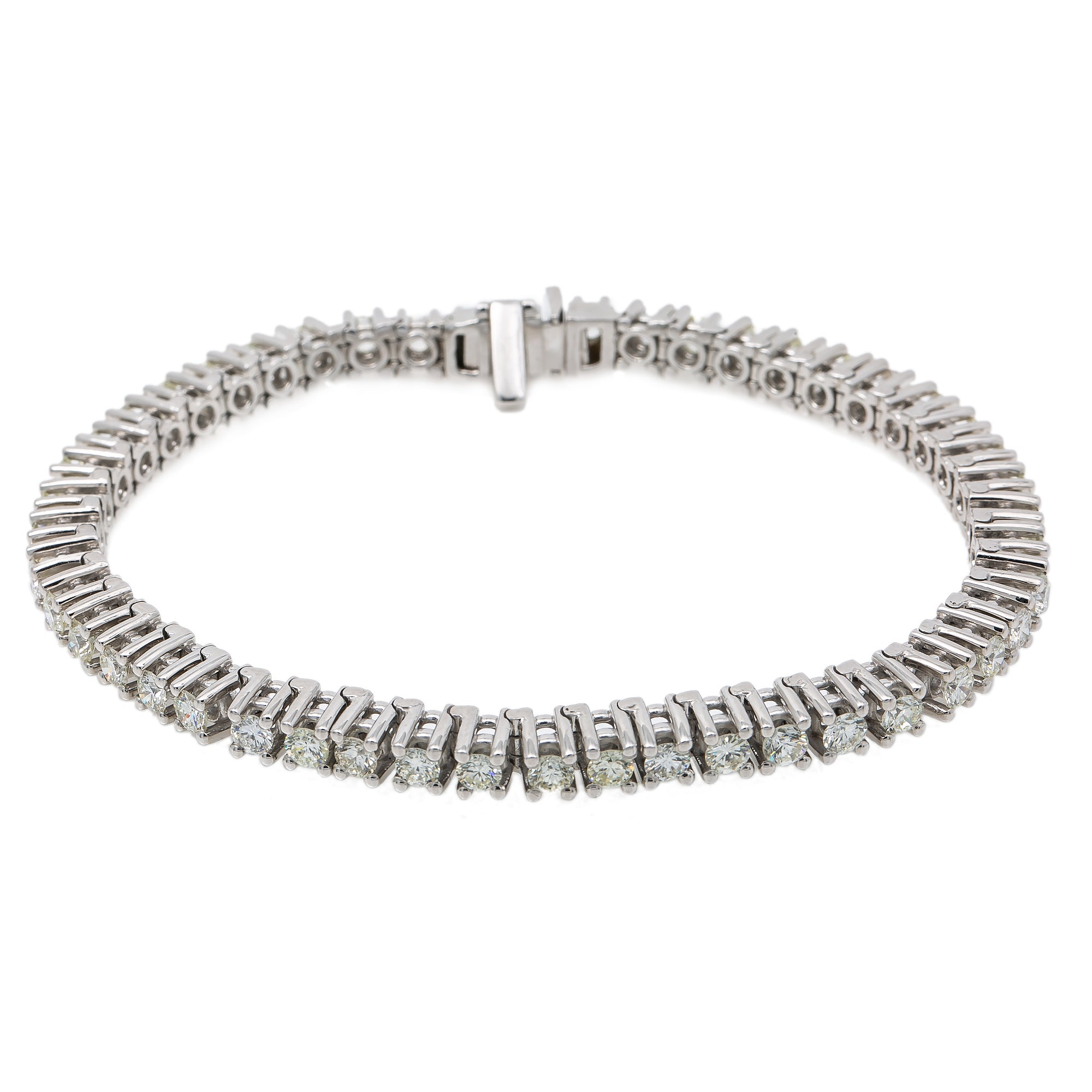 14K WHITE GOLD WOMEN'S BRACELET WITH 12.50 CT DIAMONDS