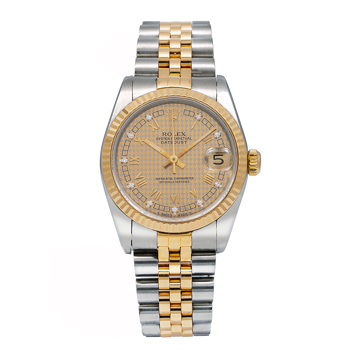 Rolex Lady-Datejust 68273 31MM Champagne Dial With Two Tone Bracelet