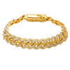 10K YELLOW GOLD WOMEN'S BRACELET WITH 7.50 CT DIAMONDS