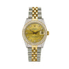 Rolex Lady-Datejust 68273 31MM Champagne Diamond Dial With 1.05 CT Diamonds