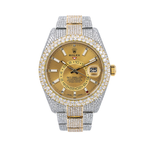 Rolex Sky-Dweller 326933 42MM Champagne Dial With Two Tone Oyster Bracelet
