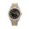 Rolex Datejust 126333 41MM Black Diamond Dial With Two Tone Jubilee Bracelet