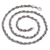 Men's 10K White Gold Hollow Rope Chain