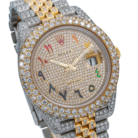 Rolex Datejust Diamond Watch, 126333 41mm, Champagne Diamond Dial With 17.25 CT Diamonds