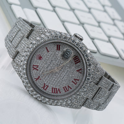 Rolex Datejust II 116300 41MM Silver Diamond Dial With 19.75 CT Diamonds