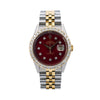 Rolex Datejust 36MM Red Diamond Dial With 2.25 CT Diamonds