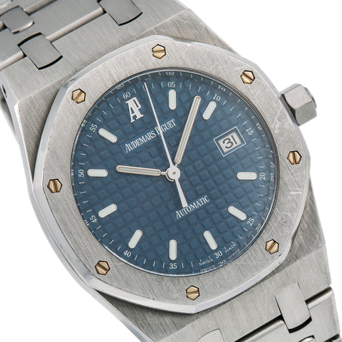 Audemars Piguet Royal Oak Lady 67650ST 33MM Blue Dial With Stainless Steel Bracelet
