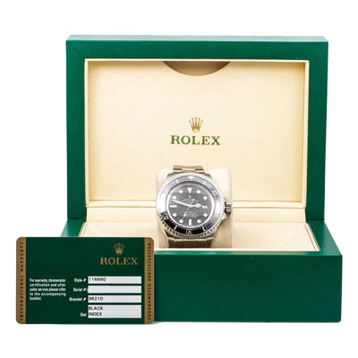 Rolex Sea-Dweller Deepsea 116660 44MM Black Dial With Stainless Steel Oyster Bracelet
