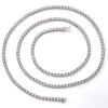 14K White Gold Men's Chain with 3.94 CT ,184 - 0.2 Pointers Diamonds