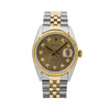 Rolex Datejust 16013 36MM Champagne Diamond Dial With 1.20 CT Diamonds