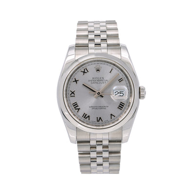 Rolex Datejust 116200 36MM Silver Dial With Stainless Steel Jubilee Bracelet