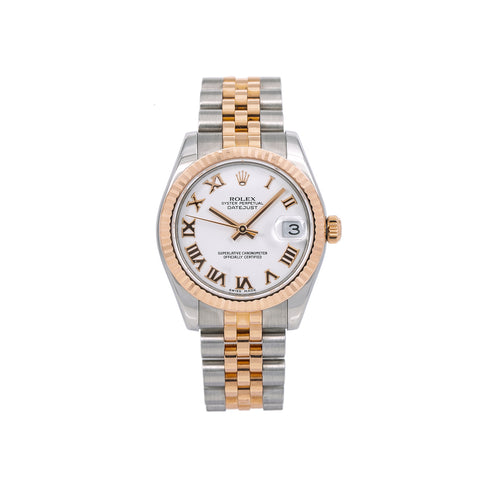 Rolex Lady-Datejust 178271 31MM White Dial With Two Tone Jubilee Bracelet