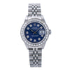Rolex Lady-Datejust 69174 26MM Blue Diamond Dial With 0.90 CT Diamonds