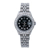 Rolex Lady-Datejust 69174 26MM Black Diamond Dial With 0.90 CT Diamonds
