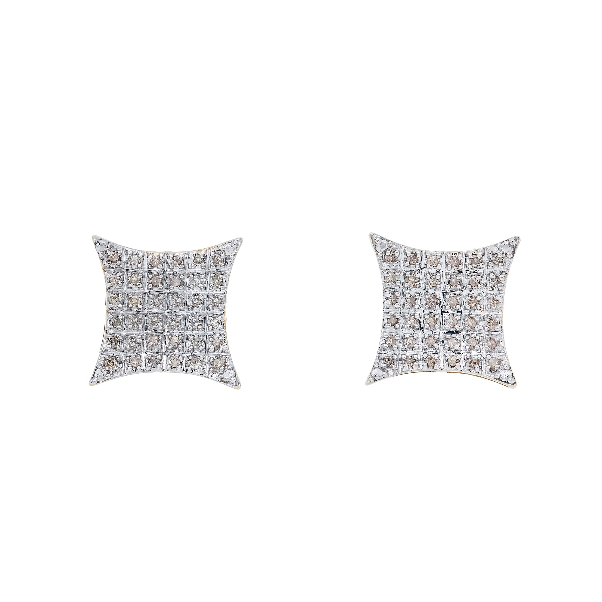 10K Yellow Gold Unisex Earrings with 0.30 CT Diamond