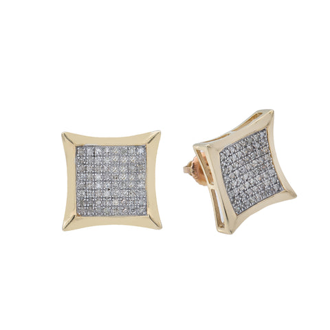 10K Yellow Gold Unisex Earrings with 0.50 CT Diamond