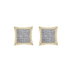 14K Yellow Gold Unisex Earrings with 0.50 CT Diamond