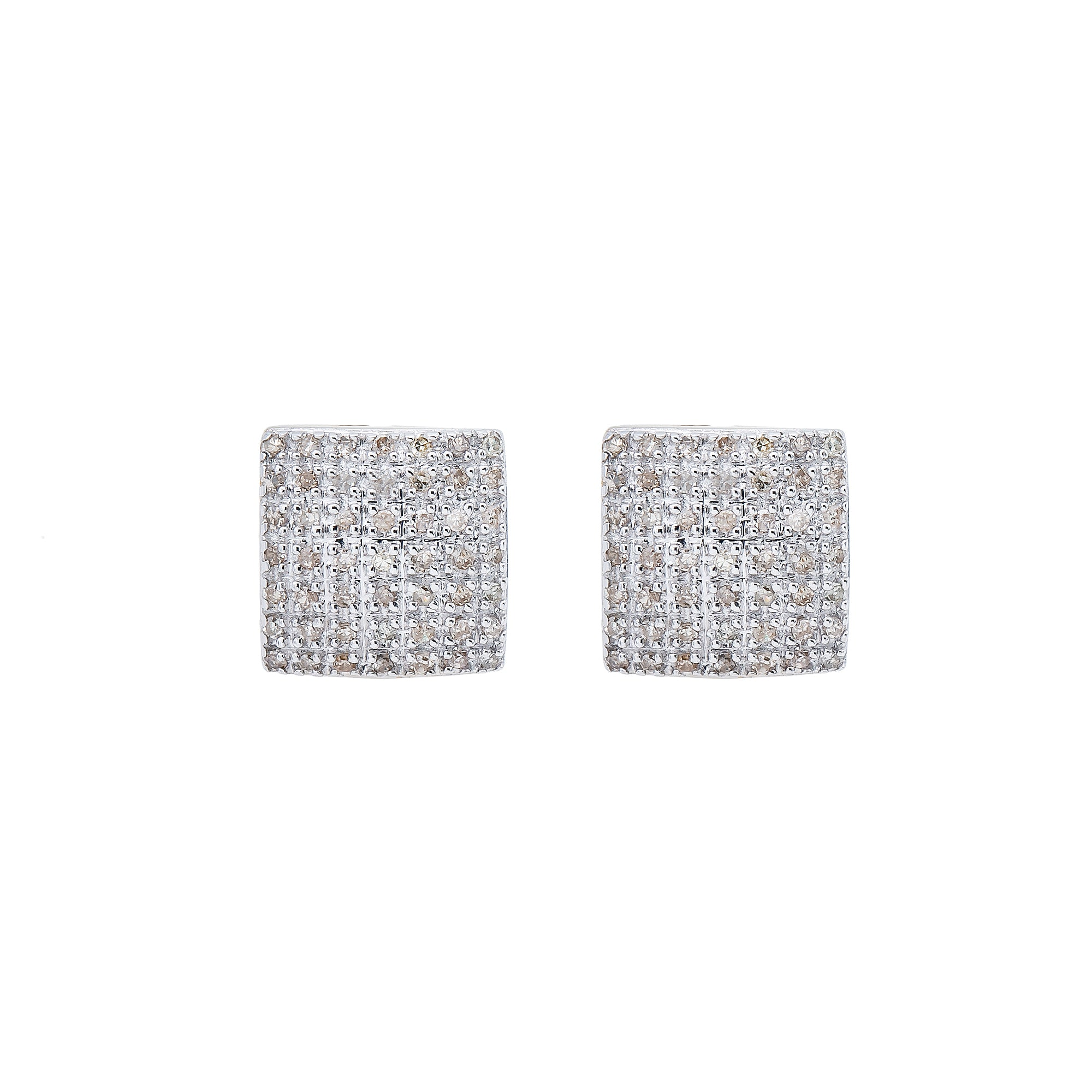 10K Yellow Gold Unisex Earrings with 0.43 CT Diamond