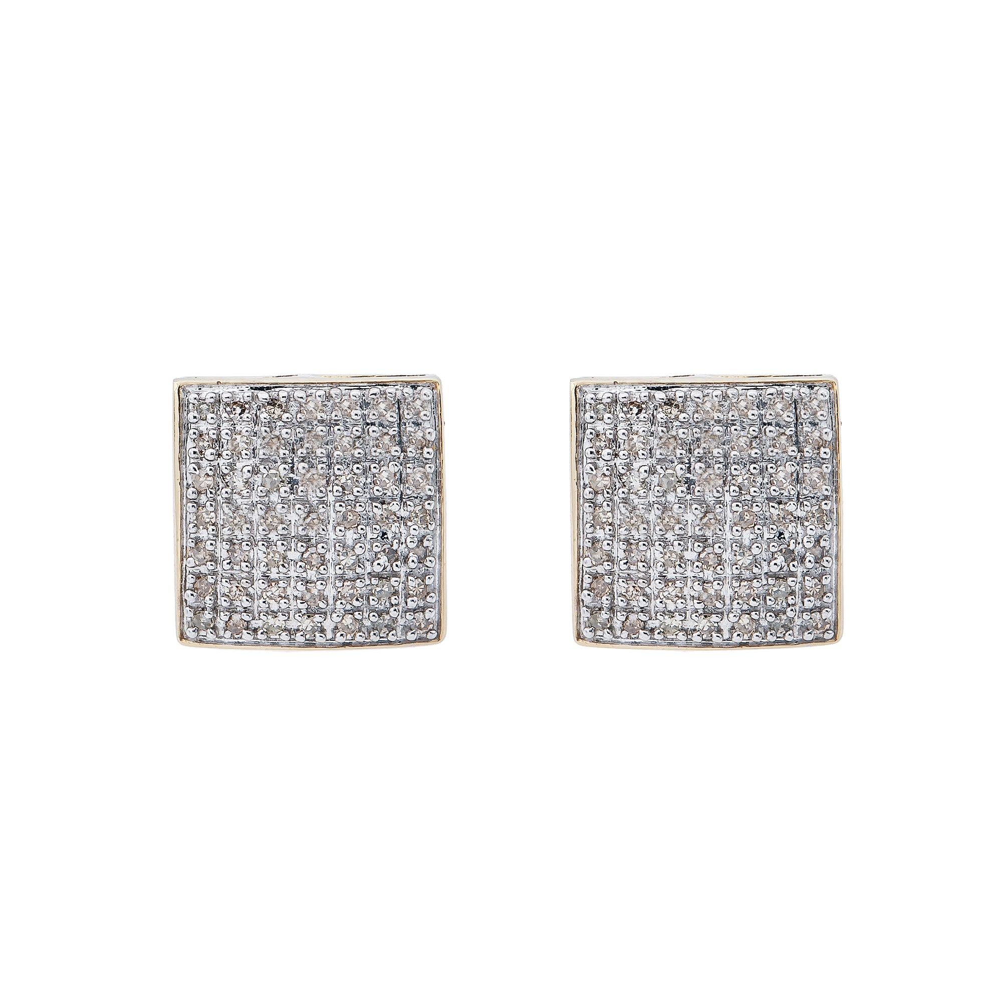 10K Yellow Gold Unisex Earrings with 0.40 CT Diamond
