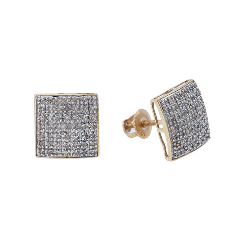 10K Yellow Gold Unisex Earrings with 0.32 CT Diamond
