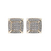 10K Yellow Gold Unisex Earrings with 0.38 CT Diamond