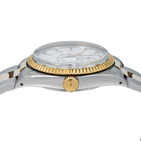 Rolex Oyster Perpetual Date 1500 34MM White Dial With Two Tone Oyster Bracelet