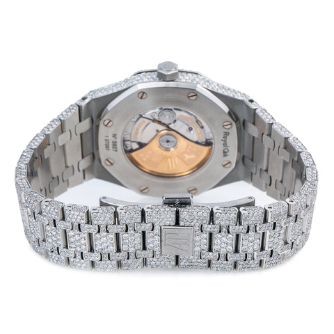 Audemars Piguet Royal Oak Selfwinding 15400ST 41MM Silver  Diamond Dial With 25.25 CT Diamonds
