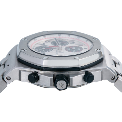 Audemars Piguet Royal Oak Offshore Chronograph 26170ST 42MM White Dial With Stainless Steel Bracelet