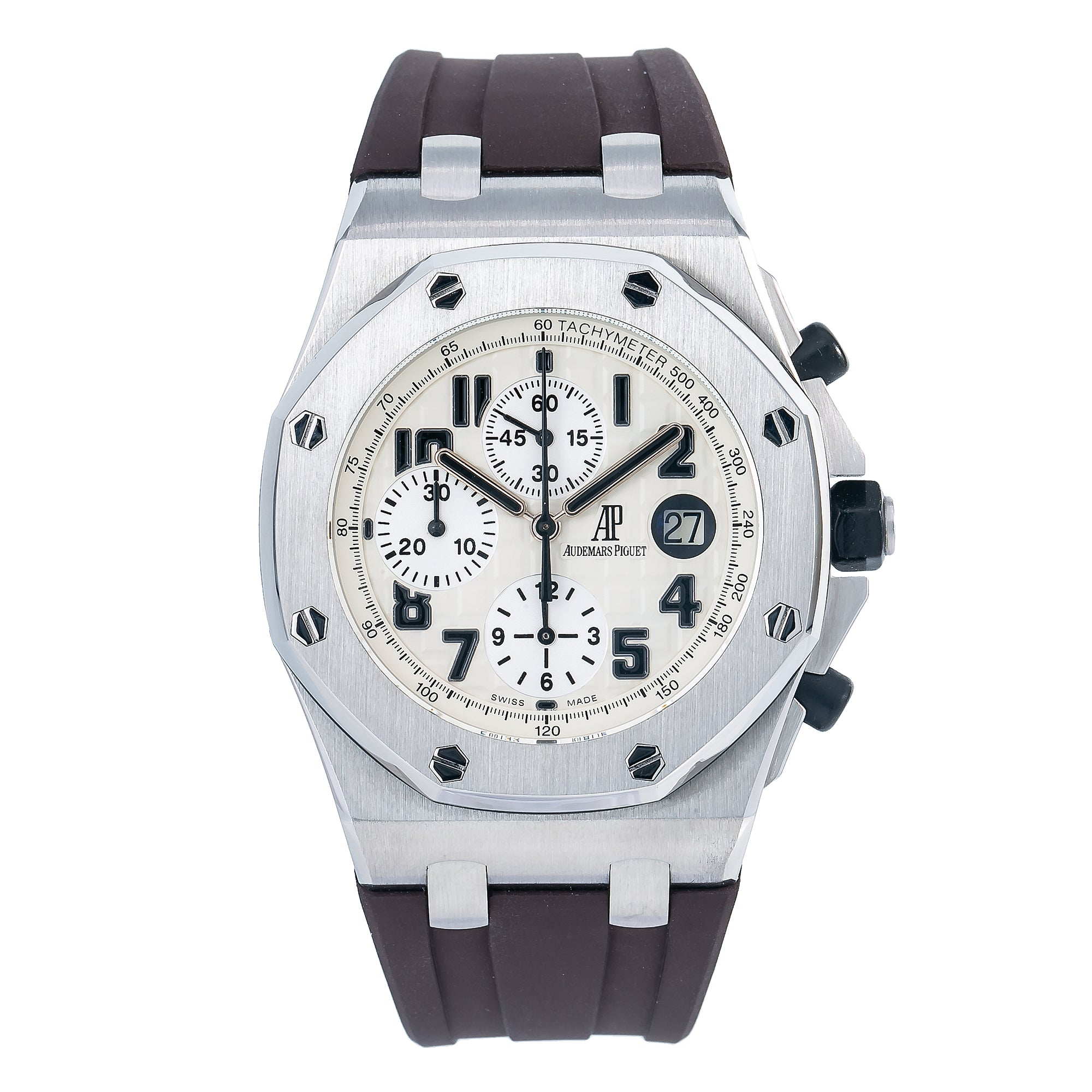 Audemars Piguet Royal Oak Offshore Chronograph 26170ST 42MM White Dial With Rubber Bracelet